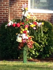 Flower Cross at Christ Church Easter morning