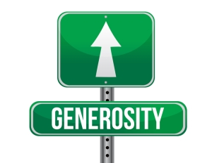 generosity road sign illustration design over a white background